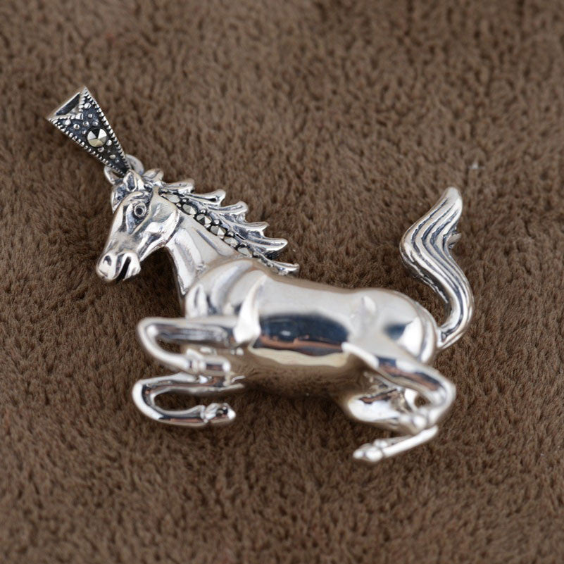 925 Sterling Silver Pendant Horse S925 Solid Thai Silver Pendants Women Jewelry - Gisselle Morales