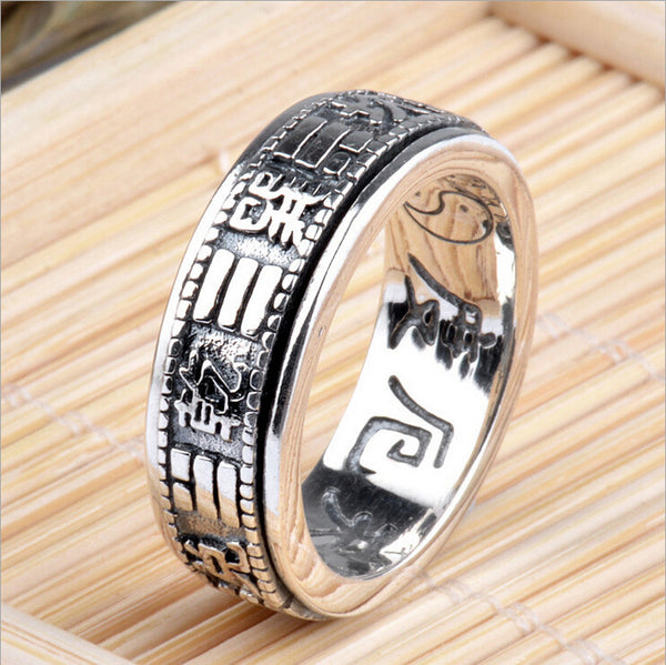 S925 Solid Thai Silver Feng Shui Ba Gua Ring - Gisselle Morales
