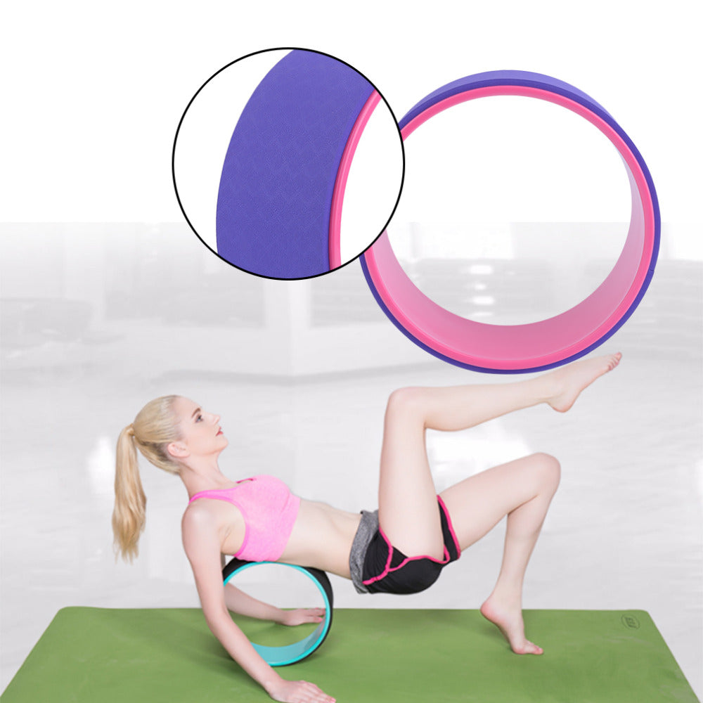 Professional 13 Inch Yoga Circles TPE Yoga Wheel Gym Workout Training Tool Waist Shape Bodybuilding Fitness EquipBoho Stylet free shipp - Gisselle Morales
