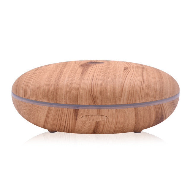 500ml Aroma Diffuser Aromatherapy Wood Grain Essential Oil Diffuser Ultrasonic Cool Mist Humidifier for Office Home - Gisselle Morales