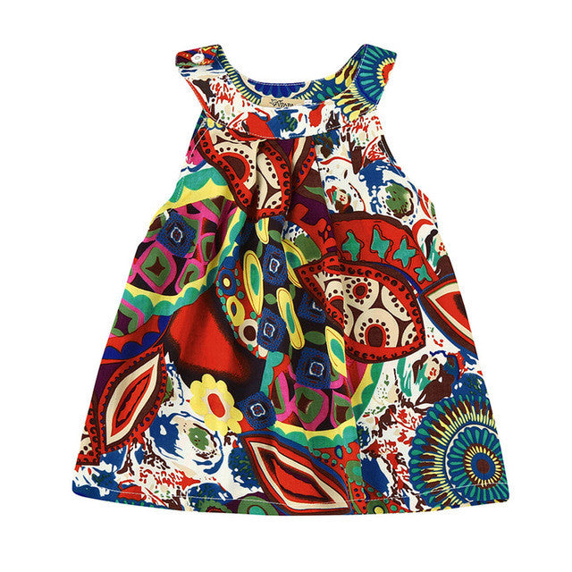 Boho Dress Girls dresses Toddler Baby Kids Girls Flower Bohemian Princess Dress Beach Sundress Clothes drop shipping girl dress DROP SHIP - Gisselle Morales