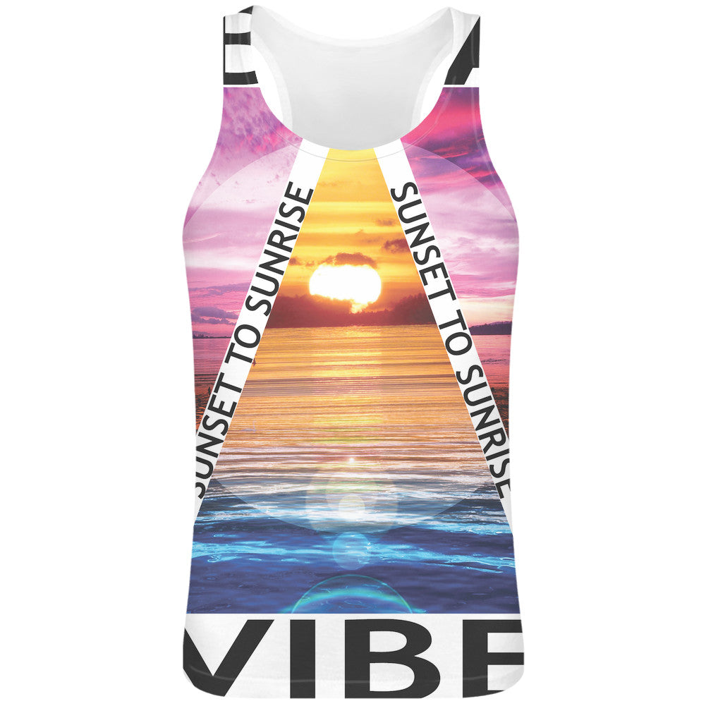 Ibiza Vibe Sublimation Tank Top T-Shirt hippie - 100% Soft Polyester - All-Over Print - Custom Printed Boho Styles Clothing