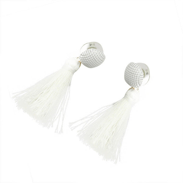 Hippie Jewelry Bohemian Boho Style Fashion Woolen Tassels Earring Gorgeous Jewelr Button tassel nail earring dangle earring GH25 - Gisselle Morales