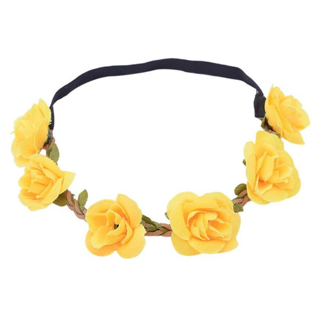 New Design Boho Headbands Hairband Boho Style Ladies Floral Flower Festival Wedding Garland Head Band Beach Party Hair Accessories