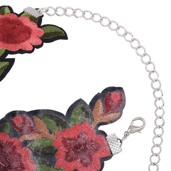 Boho Style Bohemian Printed Flower Embroidery Choker Necklace Jewelry Collar Gift - Gisselle Morales