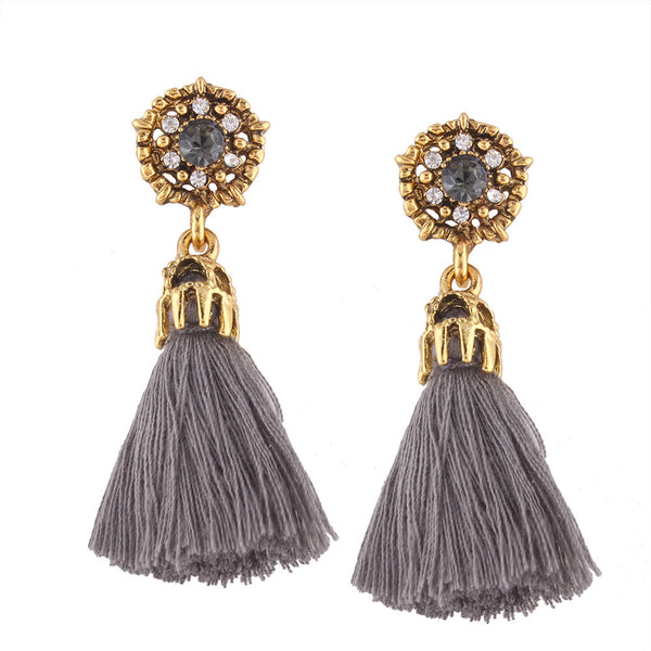 Vintage Boho Style Boho Bohemian Earrings Long Tassel Fringe Dangle Earrings Fashion