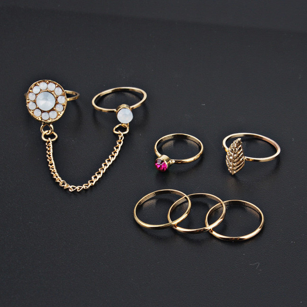 7pcs/Set Boho Style Bohemian Vintage Stack Rings Above Knuckle Rings Set - Gisselle Morales