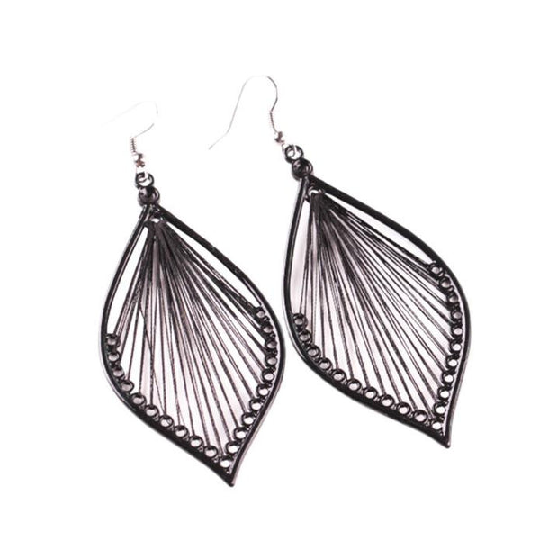 1Pair Fashion Boho Style Alloy Leaf Stud Dangle Earrings Eardrop Jewelry New - Gisselle Morales