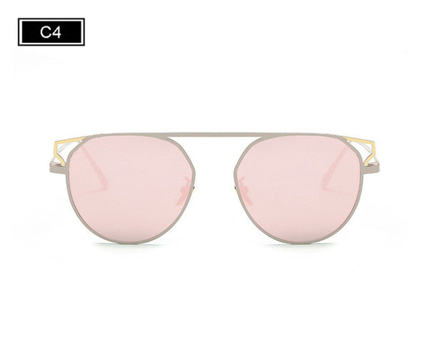 ROYAL GIRL Fashion Round Frame Cat's Eye Sunglasses Female Brand Designer Retro Sunglasses SS938