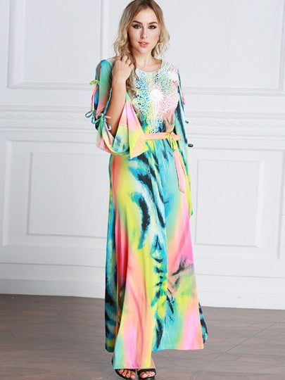 Plus Size Gradient Maxi Dress