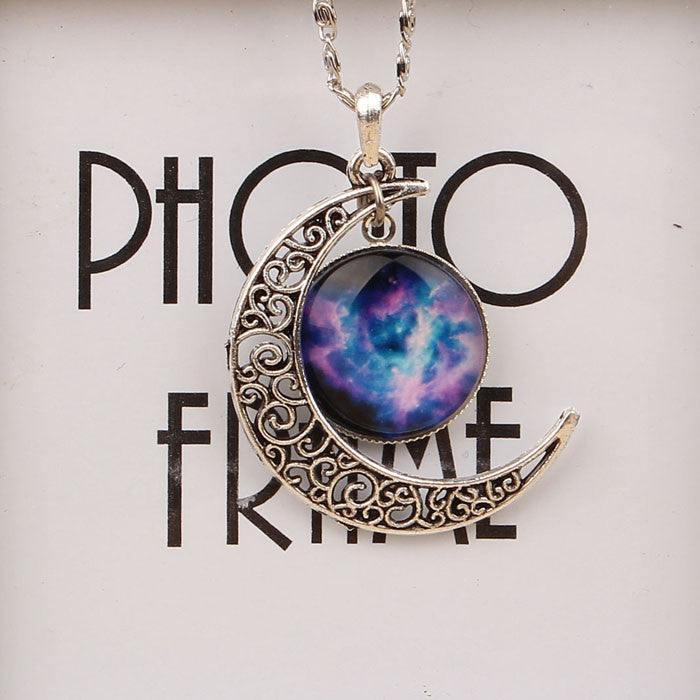 Antique Vintage Moon Time Necklace Sweater Chain Pendant Jewelry IB835 - Gisselle Morales