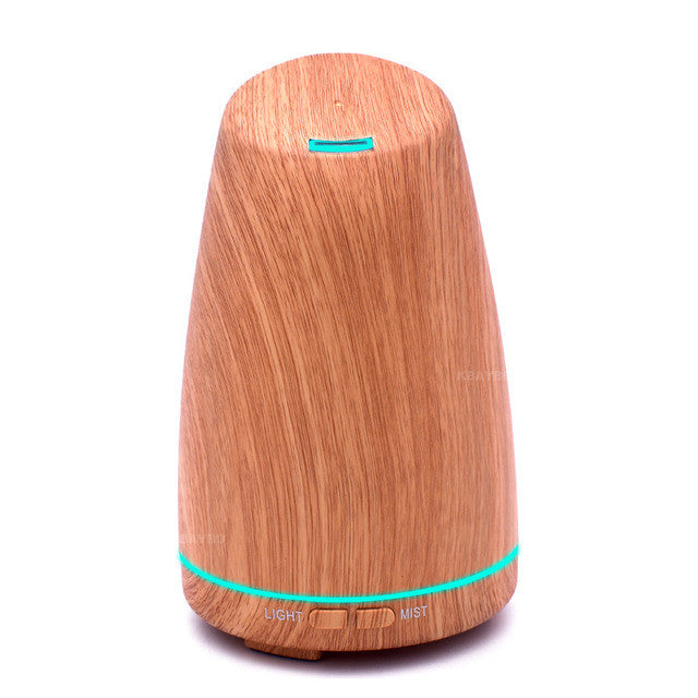 Ultrasonic Aromatherapy Diffuser Wood Grain Ultrasonic Humidifier for Office Home Bedroom Living Room