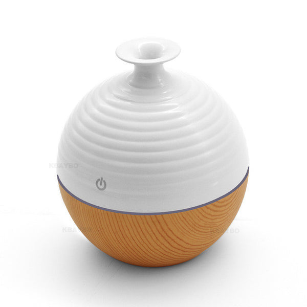 USB Ultrasonic Humidifier 130ml Aroma Diffuser Essential Oil Diffuser Aromatherapy mist maker with 7 color LED Light Wood grain - Gisselle Morales