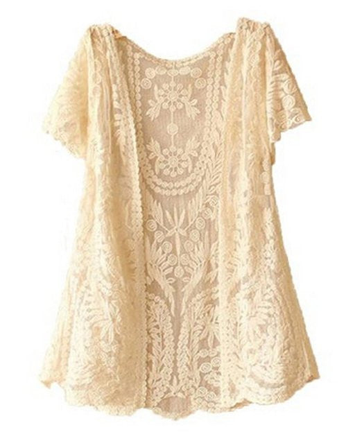 Fashion Girls Knitted Open Vest Boho Summer Cover-Up Crochet Casual Tops Blouse