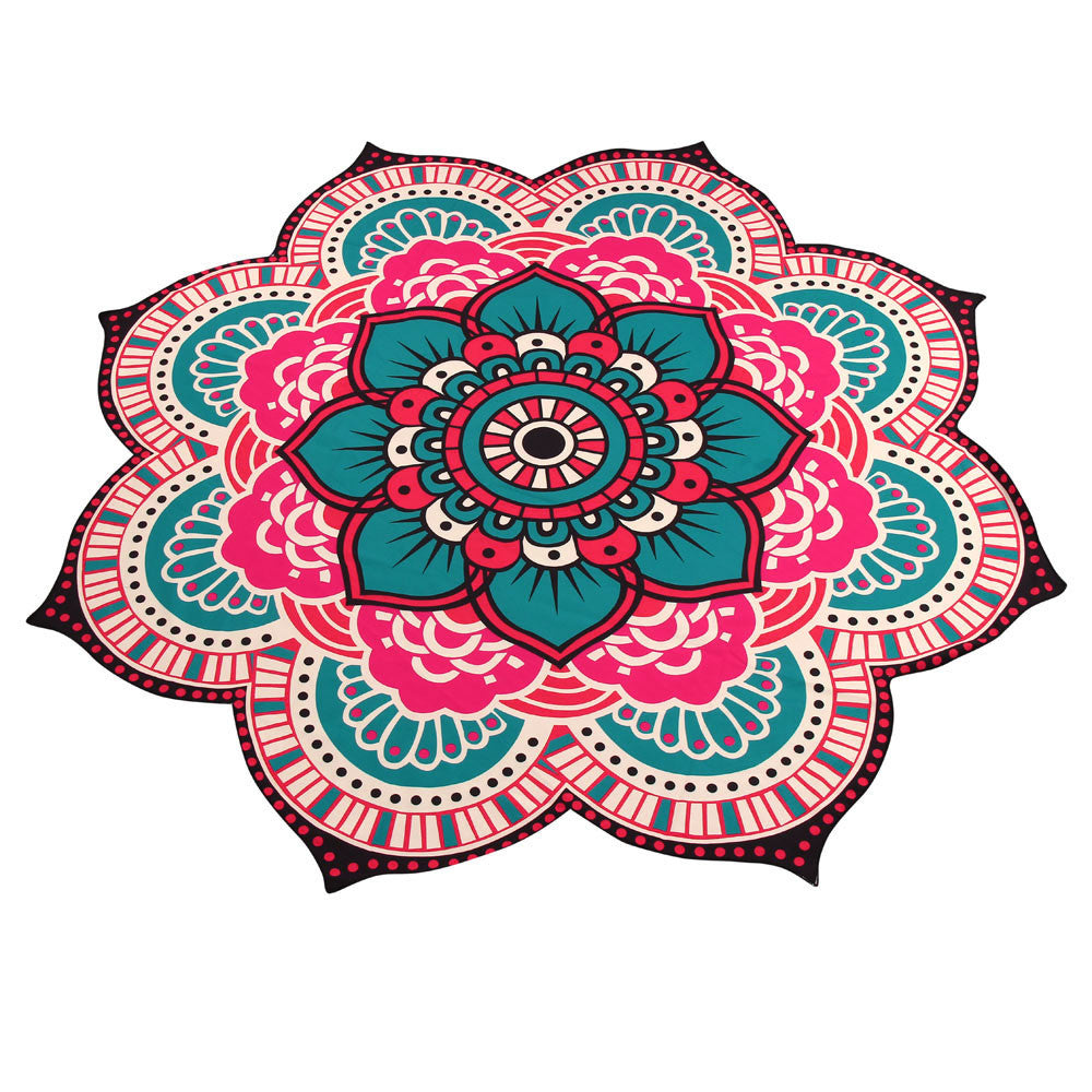 Mandala Towel Yoga Mat Bohemian Beach Pool Home Table Cloth Yoga Mat - Gisselle Morales