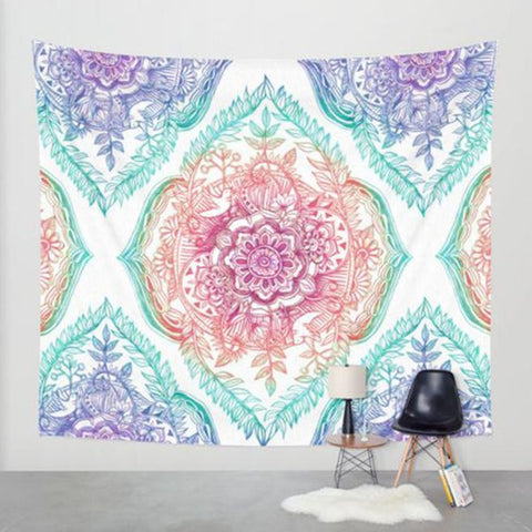 Hippie Tapestry Beach Throw Roundie Mandala Towel Yoga Mat Bohemian Featur