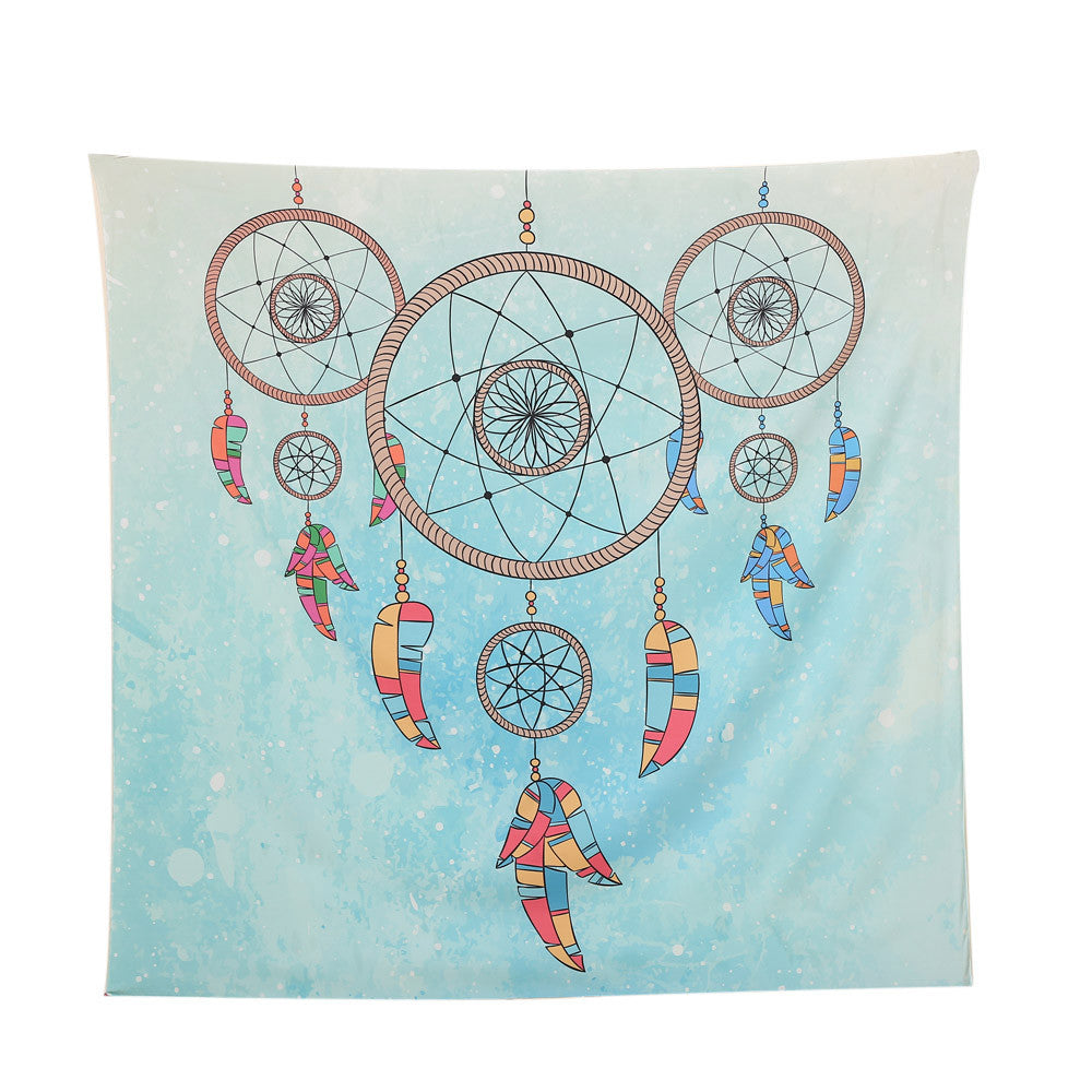 Square India Bohemian Hippie Tapestry Beach Throw Roundie Mandala Towel Yoga Mat - Gisselle Morales