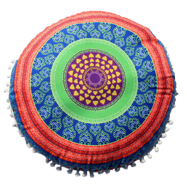 Indian Mandala Pillows Round Bohemian Home Cushion Pillows Cover Case Cushions - Gisselle Morales