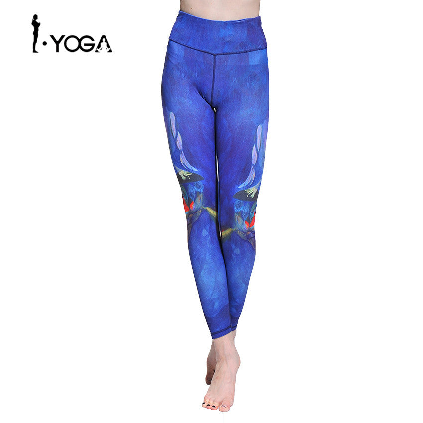 Yoga Sport Push Up Athletic Leggings Pants Boho Style Running Gym Tights Clothing Fitness Jogging Female Sports Wear Trousers