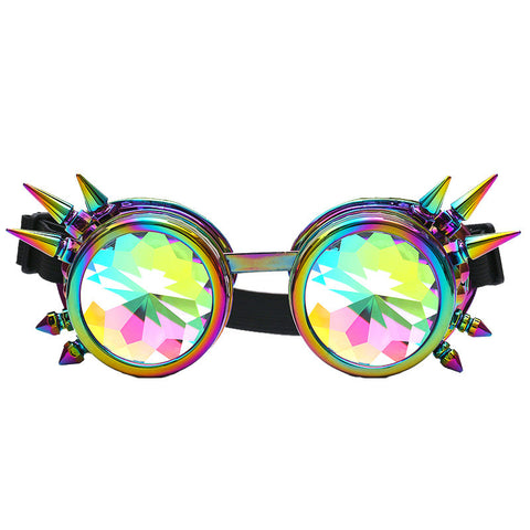 Kaleidoscope Colorful Glasses Rave Festival Party EDM Sunglasses Diffracted Lens - Gisselle Morales