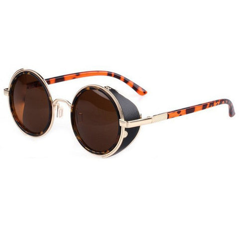 Mirror Lens Round Glasses Cyber Goggles Steampunk Sunglasses Vintage Retro - Gisselle Morales