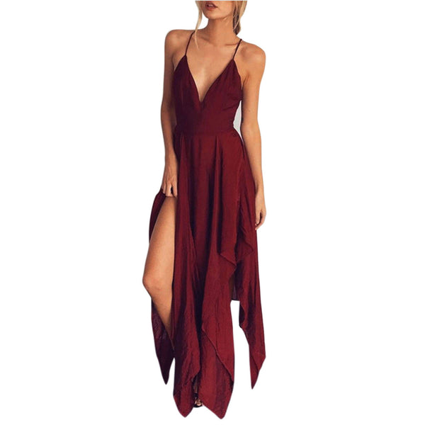 Summer Boho Style Boho Long Evening Party Cocktail Casual Beach Dress Sundress - Gisselle Morales