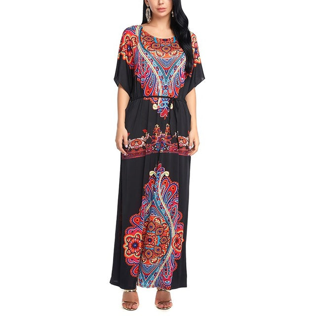 Bohemian Maxi Dress Summer Boho Casual Loose - Gisselle Morales