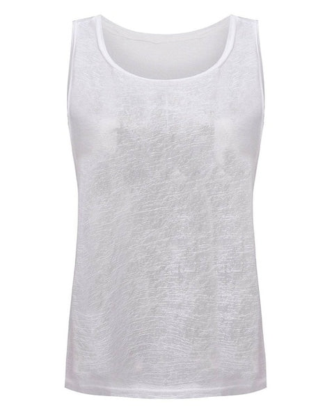 ZANZEA Boho Style Summer See Through Sexy Tank Tops Solid Loose Vest Ladies Boho Sleeveless Casual Beach Top Tee Plus Size
