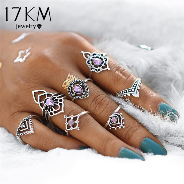 7Pcs/ set Tibetan Flower Ring Set - Gisselle Morales