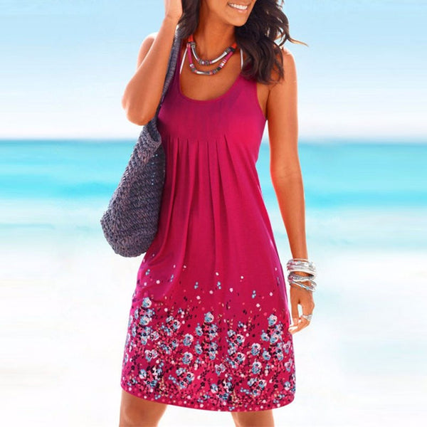 Sleeveless Maxi Boho Dress - Gisselle Morales