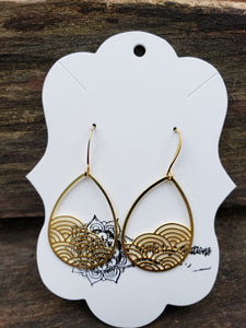Earrings in Raw Brass Shape