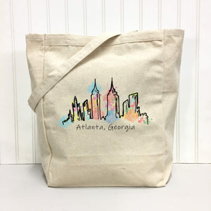 Atlanta Skyline watercolor