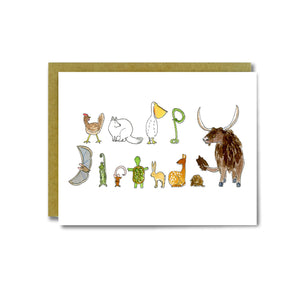 Animal Letters Card