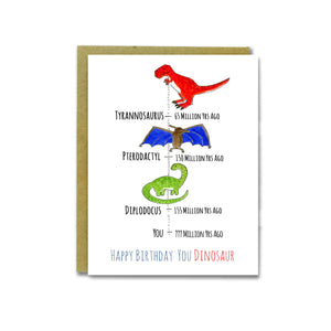 You Dinosaur Card