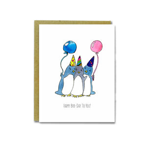 Happy Brr-Day Card