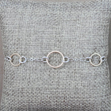 Floating Link Bracelet - mixed metals