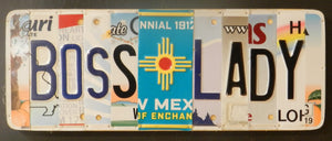 Boss Lady License Plate Sign