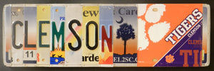 Clemson with Logo License Plate Sign