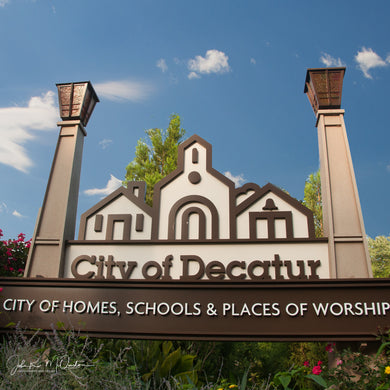 Country Coasters City of Decatur Sign
