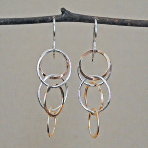 Bubble Earrings - mixed metals