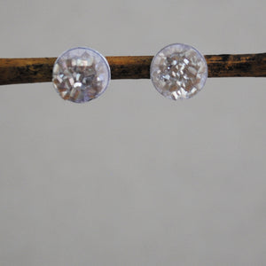 Druzy Stud Earrings - sterling silver