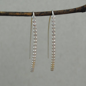 Medium Beaded Hoops - gold-filled