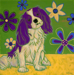 """Graceful King Charles"" - King Charles Spaniel Matted Print"