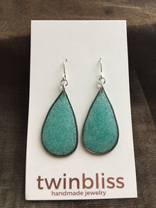 Sparkle & Shine Artisan Earrings - Silver Drop Aqua
