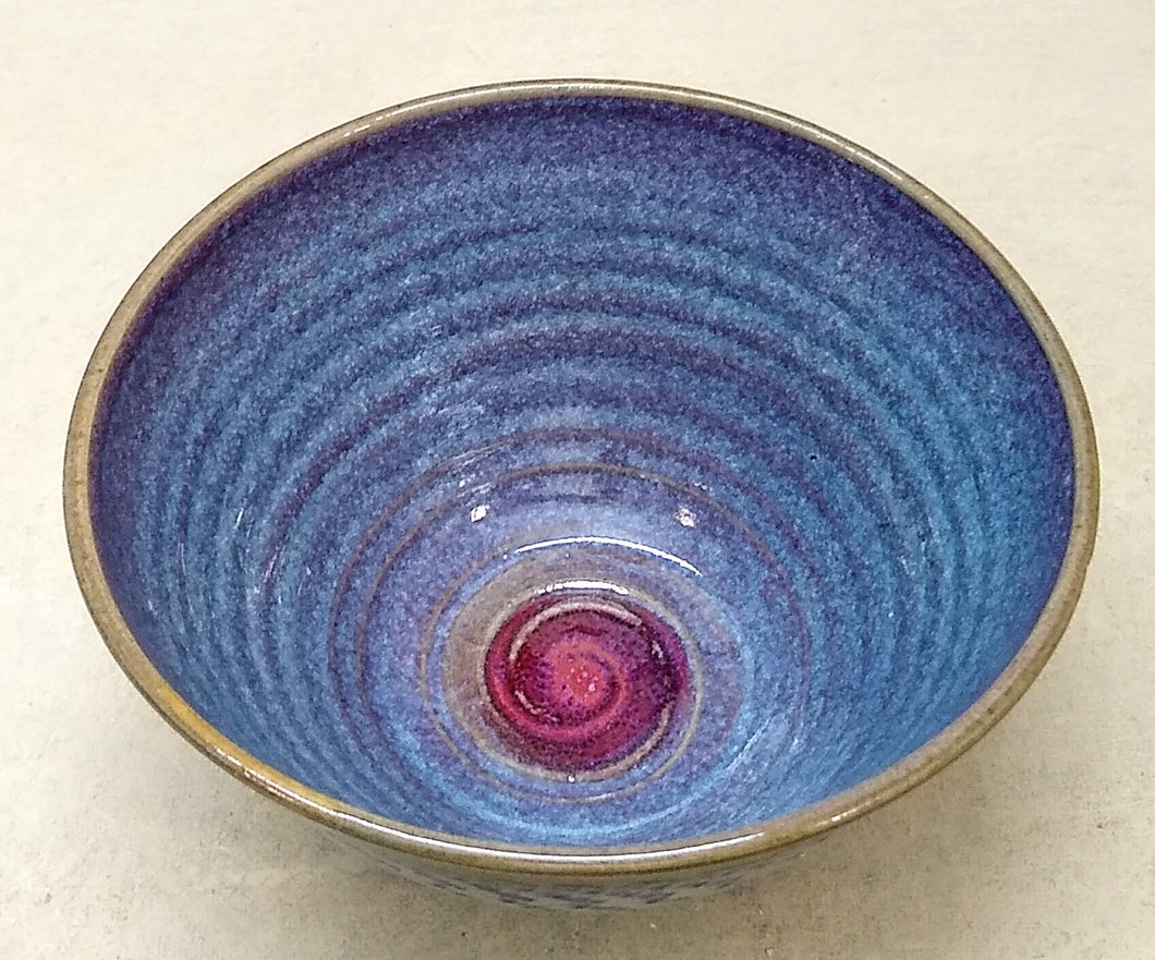 Bowl, Blue and Red