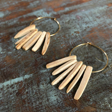 Hoop Coconut Wood Diffuser Earrings - Offerings