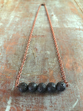 Lava Diffuser Necklace - 5 Beads