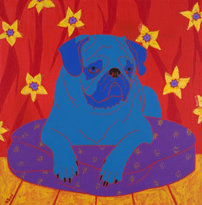 """Impeccable Pug"" - Matted Print"