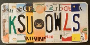 KSU Owls License Plate Sign