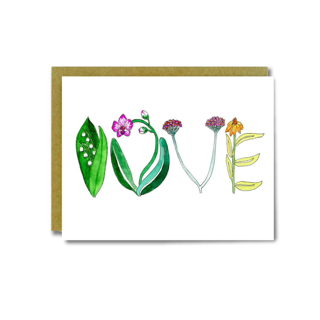Love Flowers Card